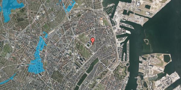 Oversvømmelsesrisiko fra vandløb på Øster Allé 50, st. , 2100 København Ø