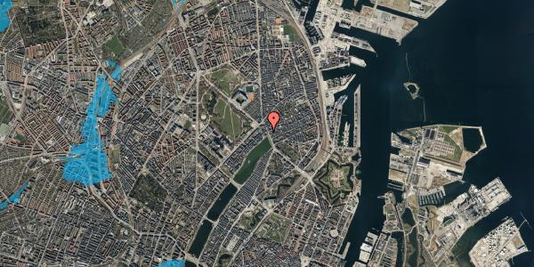 Oversvømmelsesrisiko fra vandløb på Østerbrogade 19, st. 1, 2100 København Ø