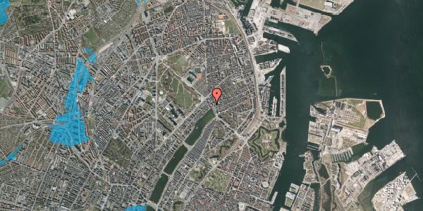 Oversvømmelsesrisiko fra vandløb på Østerbrogade 19, 1. 1, 2100 København Ø