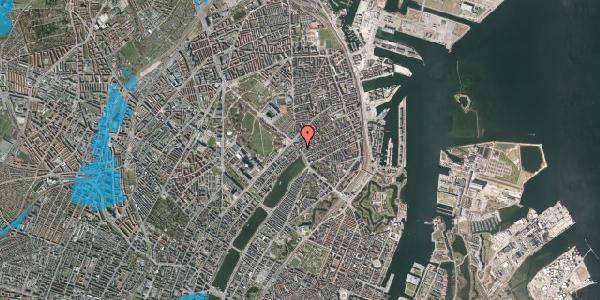 Oversvømmelsesrisiko fra vandløb på Østerbrogade 21, 1. th, 2100 København Ø