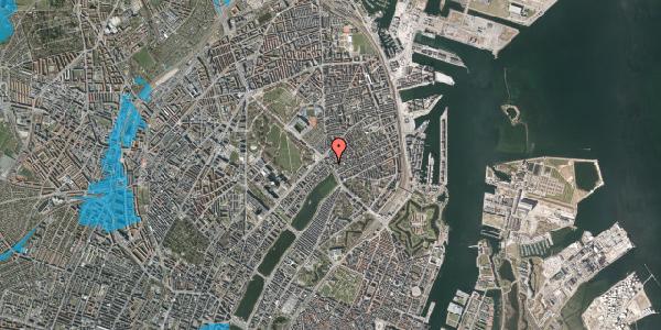 Oversvømmelsesrisiko fra vandløb på Østerbrogade 23, 3. , 2100 København Ø