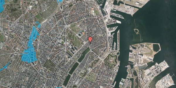 Oversvømmelsesrisiko fra vandløb på Østerbrogade 25, st. mf, 2100 København Ø