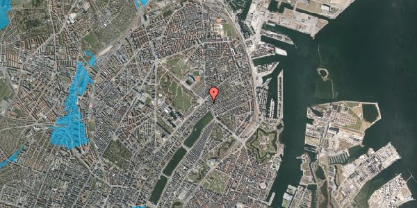 Oversvømmelsesrisiko fra vandløb på Østerbrogade 25, 3. , 2100 København Ø