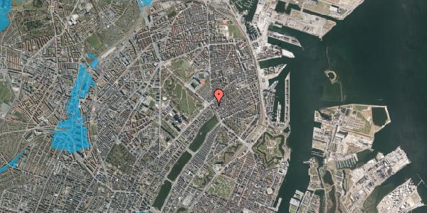 Oversvømmelsesrisiko fra vandløb på Østerbrogade 27, 3. , 2100 København Ø