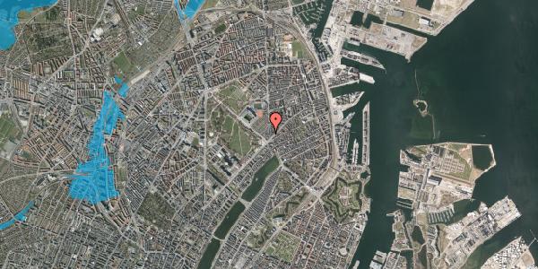 Oversvømmelsesrisiko fra vandløb på Østerbrogade 39, 1. th, 2100 København Ø