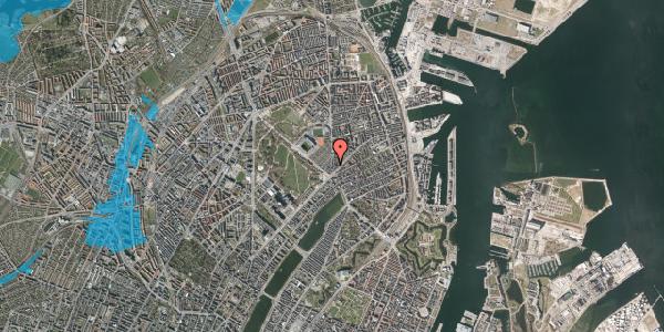 Oversvømmelsesrisiko fra vandløb på Østerbrogade 41, 4. tv, 2100 København Ø