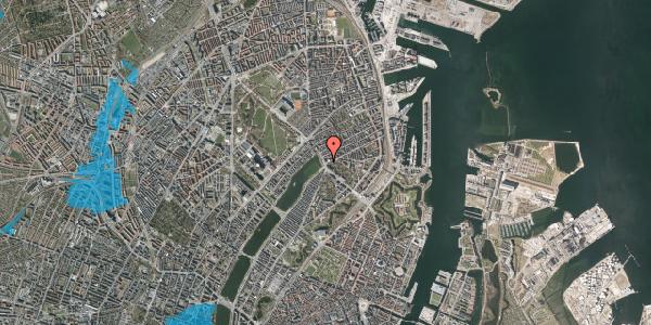 Oversvømmelsesrisiko fra vandløb på Østerbrogade 44, 1. tv, 2100 København Ø