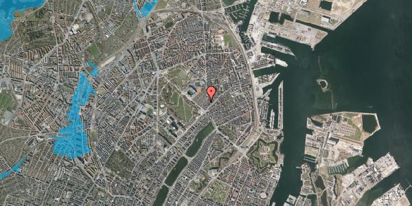Oversvømmelsesrisiko fra vandløb på Østerbrogade 45, 3. th, 2100 København Ø