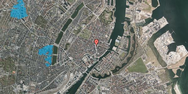 Oversvømmelsesrisiko fra vandløb på Østergade 1, st. 1, 1100 København K