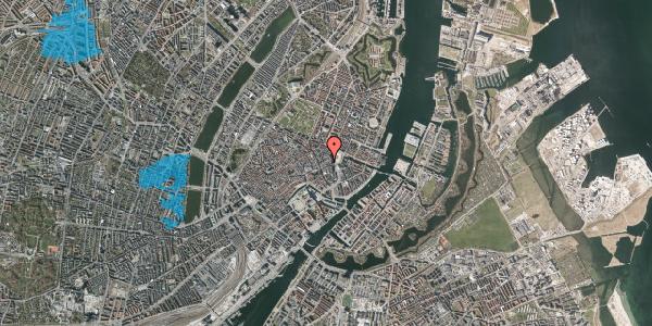 Oversvømmelsesrisiko fra vandløb på Østergade 13, 2. th, 1100 København K