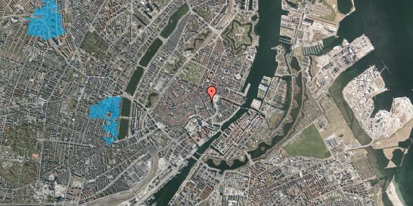 Oversvømmelsesrisiko fra vandløb på Østergade 17, 2. th, 1100 København K