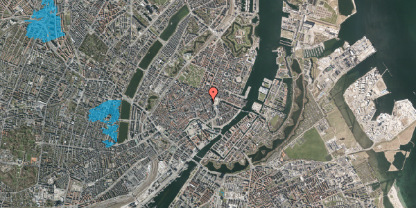 Oversvømmelsesrisiko fra vandløb på Østergade 18, 4. 1, 1100 København K
