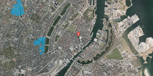 Oversvømmelsesrisiko fra vandløb på Østergade 24B, 2. mf, 1100 København K