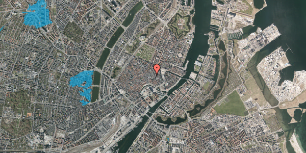 Oversvømmelsesrisiko fra vandløb på Østergade 40, 1. , 1100 København K
