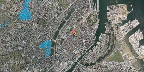 Oversvømmelsesrisiko fra vandløb på Åbenrå 29, 1. tv, 1124 København K