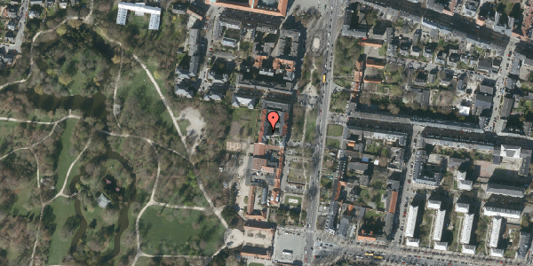 Oversvømmelsesrisiko fra vandløb på Allegade 15B, 2. th, 2000 Frederiksberg