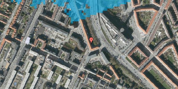 Oversvømmelsesrisiko fra vandløb på Ane Katrines Vej 6, 4. th, 2000 Frederiksberg