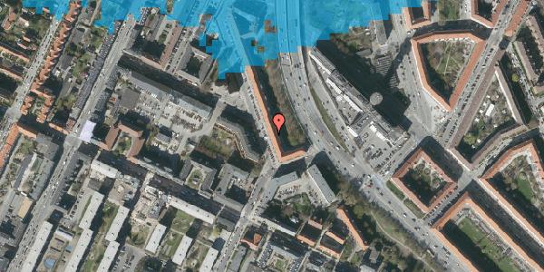 Oversvømmelsesrisiko fra vandløb på Ane Katrines Vej 8, st. th, 2000 Frederiksberg