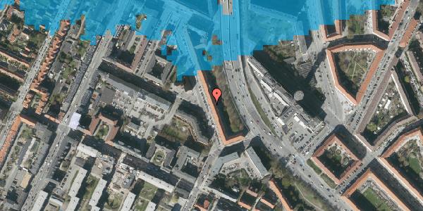 Oversvømmelsesrisiko fra vandløb på Ane Katrines Vej 14, 3. 2, 2000 Frederiksberg