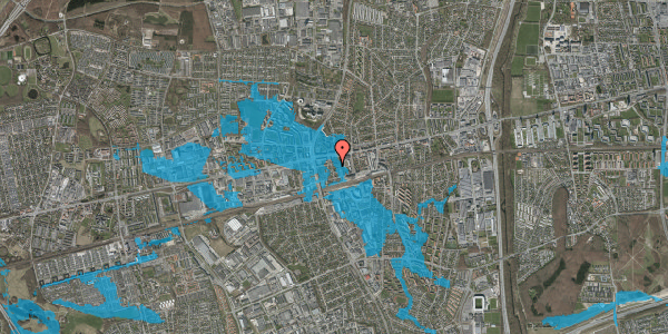 Oversvømmelsesrisiko fra vandløb på Asylvej 3, st. , 2600 Glostrup