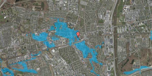 Oversvømmelsesrisiko fra vandløb på Asylvej 9, st. , 2600 Glostrup