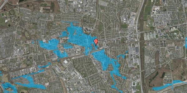 Oversvømmelsesrisiko fra vandløb på Asylvej 15, 1. , 2600 Glostrup