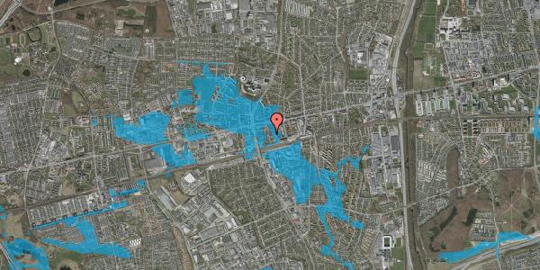 Oversvømmelsesrisiko fra vandløb på Asylvej 19, st. , 2600 Glostrup