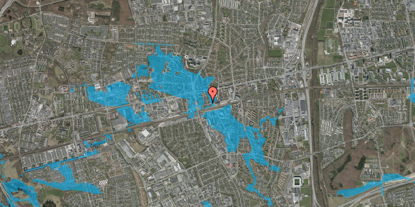 Oversvømmelsesrisiko fra vandløb på Asylvej 45, st. , 2600 Glostrup