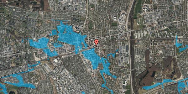 Oversvømmelsesrisiko fra vandløb på Banegårdspladsen 5, 2. 1, 2600 Glostrup