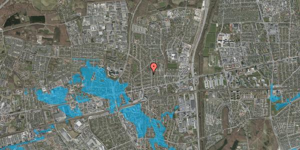 Oversvømmelsesrisiko fra vandløb på Birke Alle 1, 2600 Glostrup