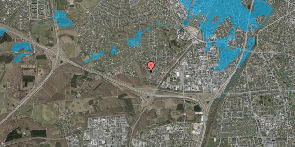 Oversvømmelsesrisiko fra vandløb på Bjergbakkevej 7, 2600 Glostrup