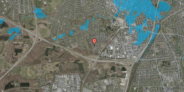 Oversvømmelsesrisiko fra vandløb på Bjergbakkevej 13, 2600 Glostrup