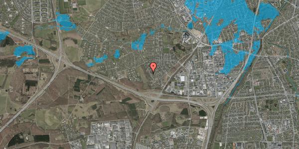Oversvømmelsesrisiko fra vandløb på Bjergbakkevej 17, 2600 Glostrup