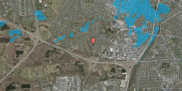Oversvømmelsesrisiko fra vandløb på Bjergbakkevej 25, 2600 Glostrup