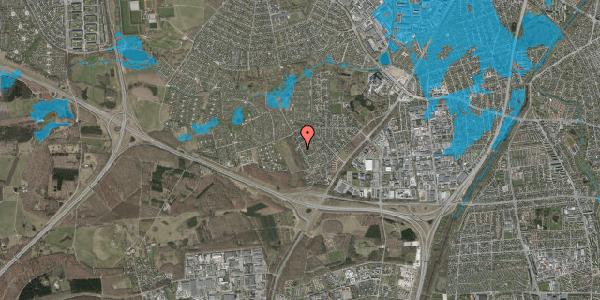 Oversvømmelsesrisiko fra vandløb på Bjergbakkevej 27, 2600 Glostrup