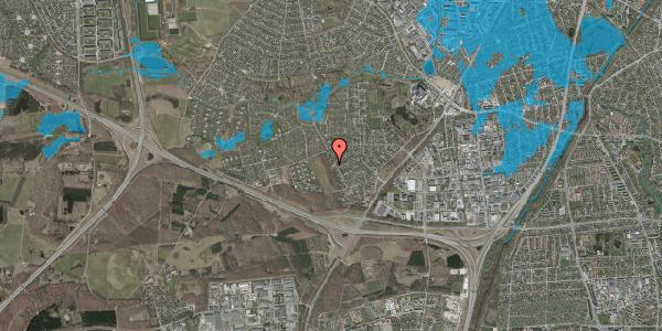 Oversvømmelsesrisiko fra vandløb på Bjergbakkevej 33, 2600 Glostrup
