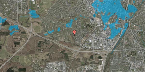 Oversvømmelsesrisiko fra vandløb på Bjergbakkevej 39, 2600 Glostrup