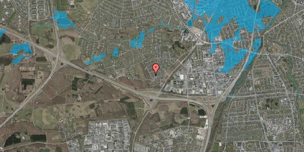 Oversvømmelsesrisiko fra vandløb på Bjergbakkevej 104, 2600 Glostrup