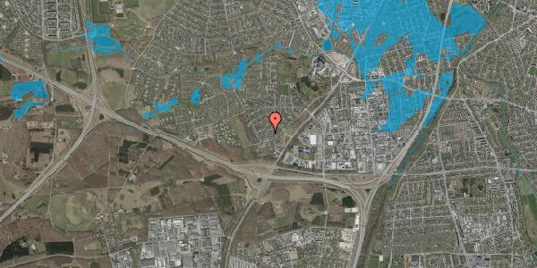 Oversvømmelsesrisiko fra vandløb på Bjergbakkevej 118, 2600 Glostrup