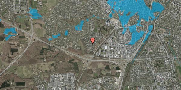Oversvømmelsesrisiko fra vandløb på Bjergbakkevej 120, 2600 Glostrup