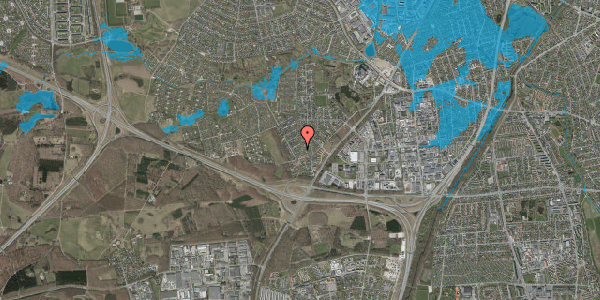 Oversvømmelsesrisiko fra vandløb på Bjergbakkevej 124, 2600 Glostrup