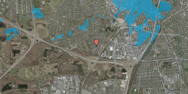 Oversvømmelsesrisiko fra vandløb på Bjergbakkevej 126, 2600 Glostrup