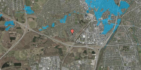 Oversvømmelsesrisiko fra vandløb på Bjergbakkevej 128, 2600 Glostrup