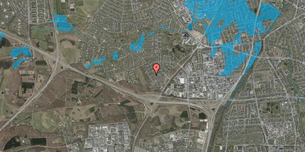 Oversvømmelsesrisiko fra vandløb på Bjergbakkevej 136, 2600 Glostrup