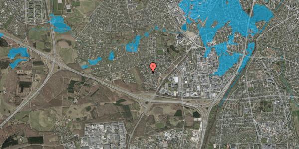 Oversvømmelsesrisiko fra vandløb på Bjergbakkevej 142, 2600 Glostrup