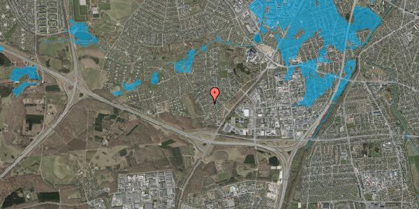 Oversvømmelsesrisiko fra vandløb på Bjergbakkevej 144, 2600 Glostrup