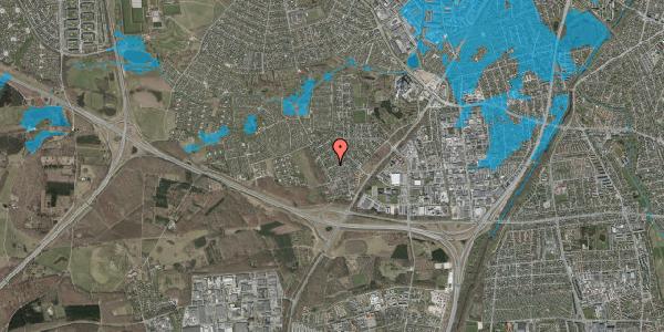 Oversvømmelsesrisiko fra vandløb på Bjergbakkevej 152, 2600 Glostrup