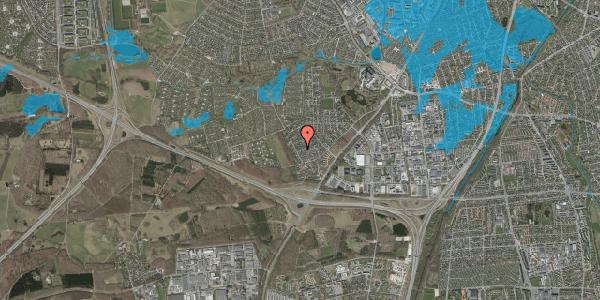 Oversvømmelsesrisiko fra vandløb på Bjergbakkevej 156, 2600 Glostrup