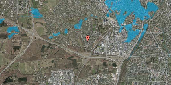 Oversvømmelsesrisiko fra vandløb på Bjergbakkevej 158, 2600 Glostrup