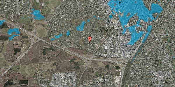 Oversvømmelsesrisiko fra vandløb på Bjergbakkevej 162, 2600 Glostrup